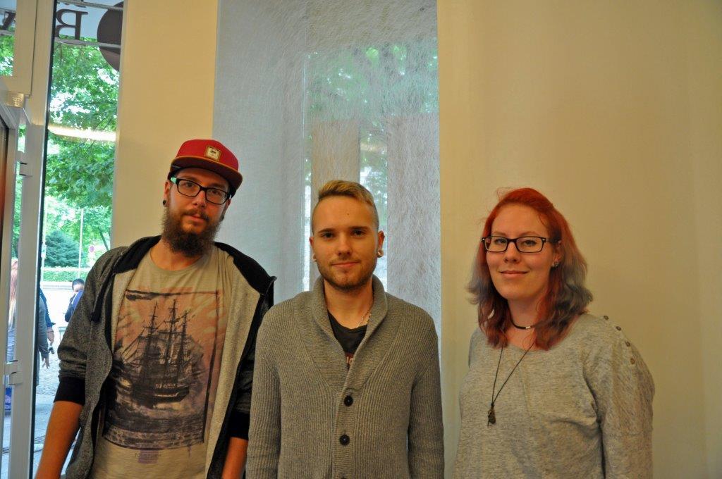 v.l.: Kevin Urbaniak, Jan Steffen und Isabelle Buchner